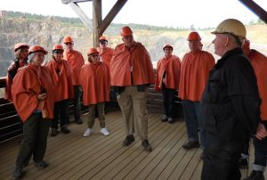 Preparing to head down into the Falun Copper mine.