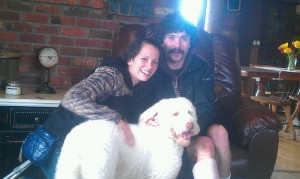 My little family! Richard, myself, and our dog-child, Toby McGruff