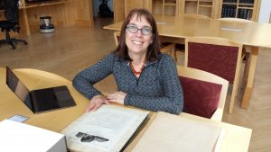 Visiting speaker Frederica Bowcutt finds the OSU Special Collections & Archives Research Center