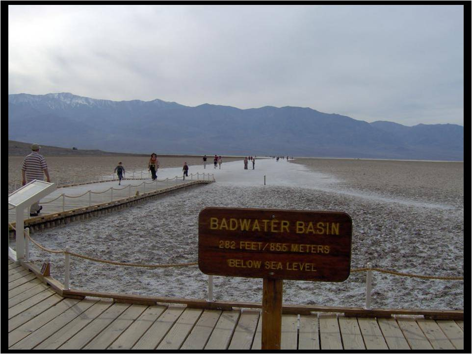 Badwater Basin is in the heart of Death Valley National Park
