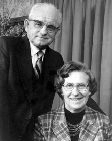 Edward and his wife, Esther M. Rada (class of '42, Home Economics)