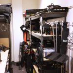 video equipment closet