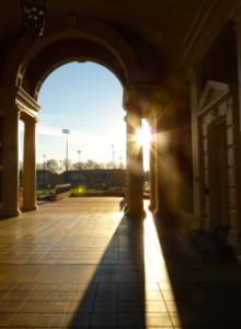 Weatherford Hall arch at OSU