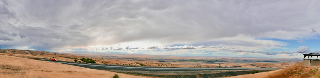 Eastern Oregon landscape illustrates the rural, agricultural character of the state east of the Cascades.