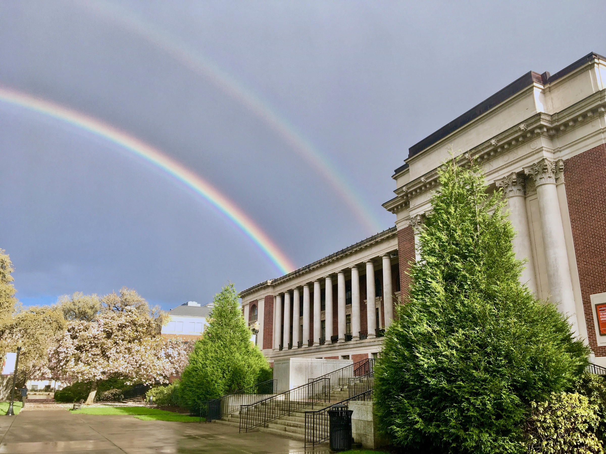 Double rainbow at Oregon State University MU