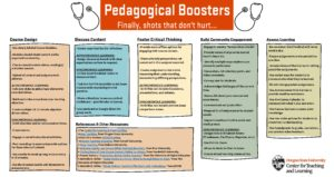 Pedagogical Boosters infographic