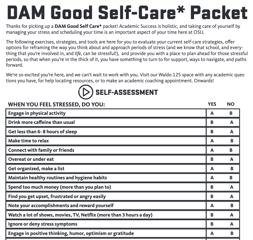 Dam Good Swelf-Care Packet