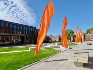 Austin Hall and LINC plaza