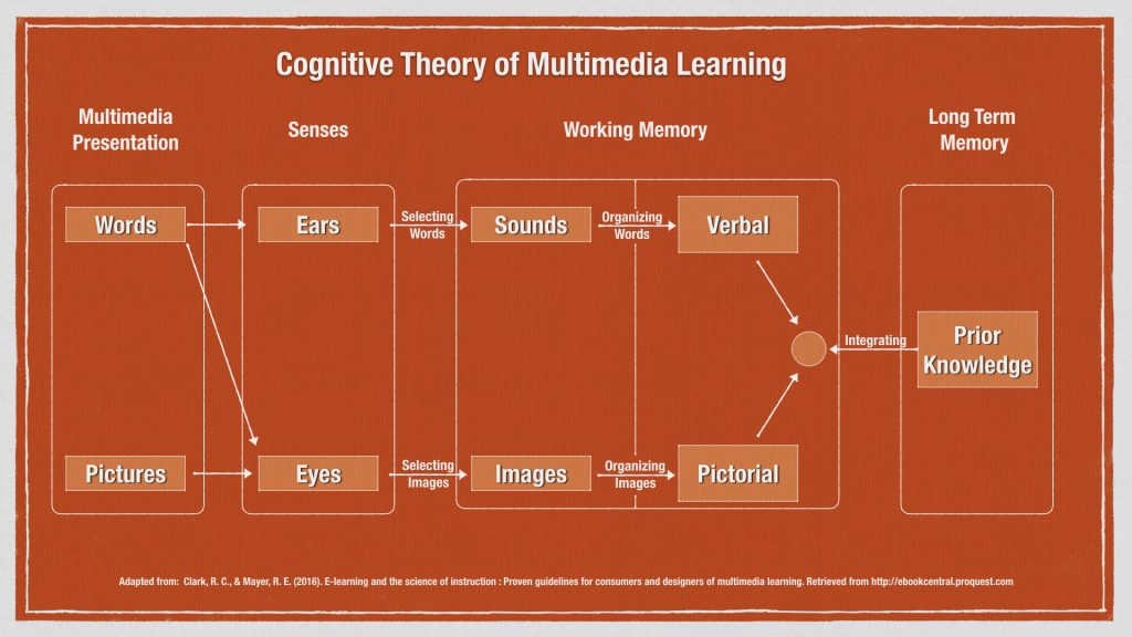Model of cognitive model of multimedia learning.
