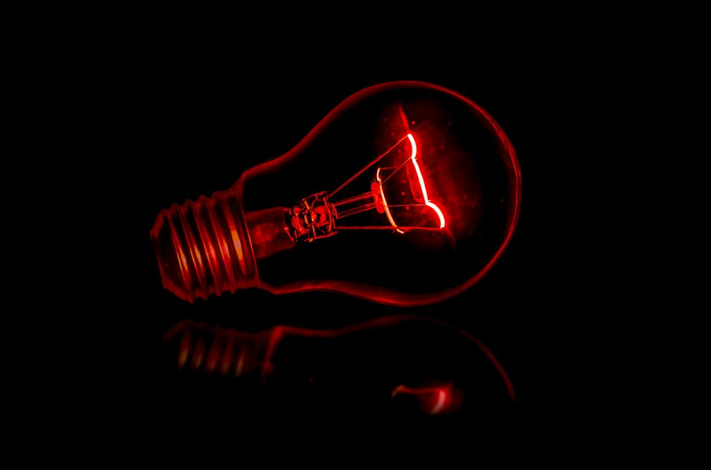 red lightbulb