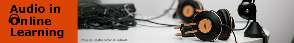 Audio in Online Learning banner.