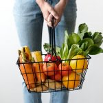 shopping basket with vegetables
