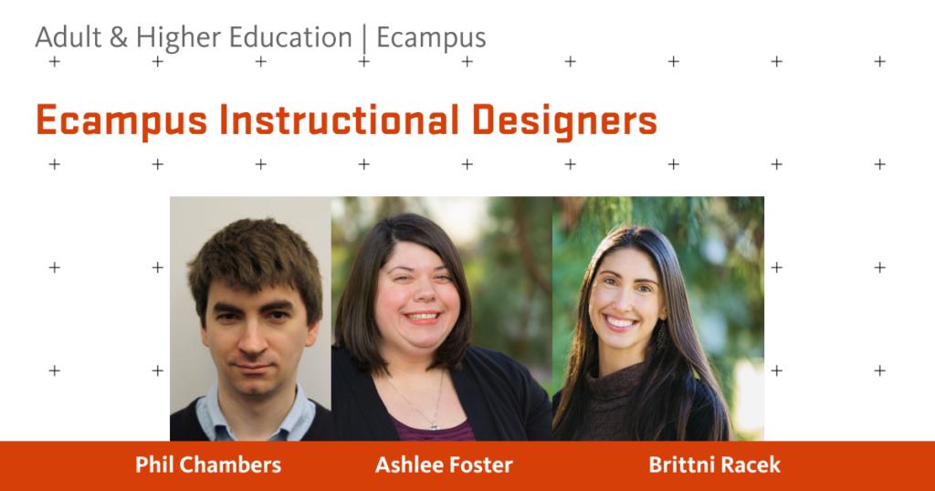 Photos of the instructional design  panelists