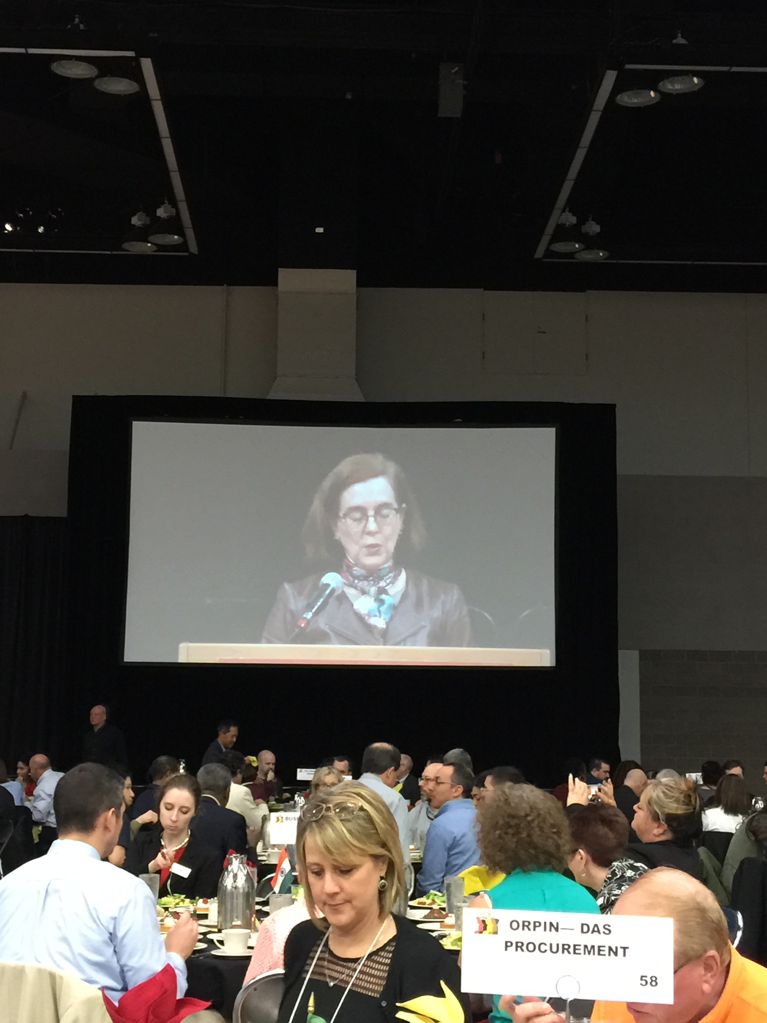 Governor Kate Brown addresses attendees.