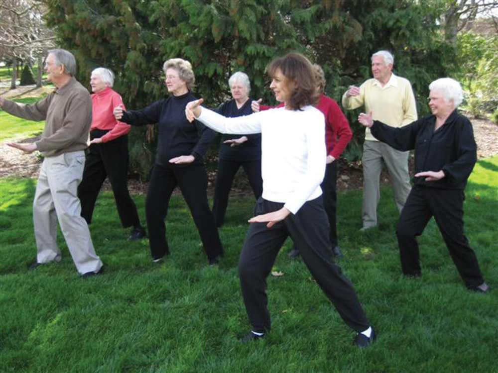 Instructor Lillibet Gillespie, front, with Tai Chi for Better Balance students