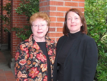 Joanne Grabinski with development officer Marie Jennings