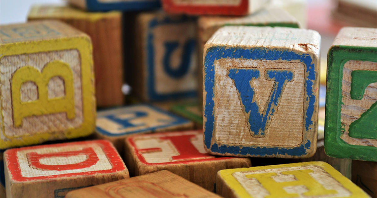 child blocks, v, b, and z