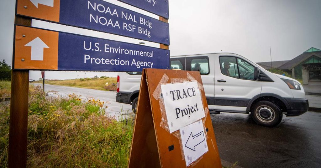 sign for TRACE project in Newport