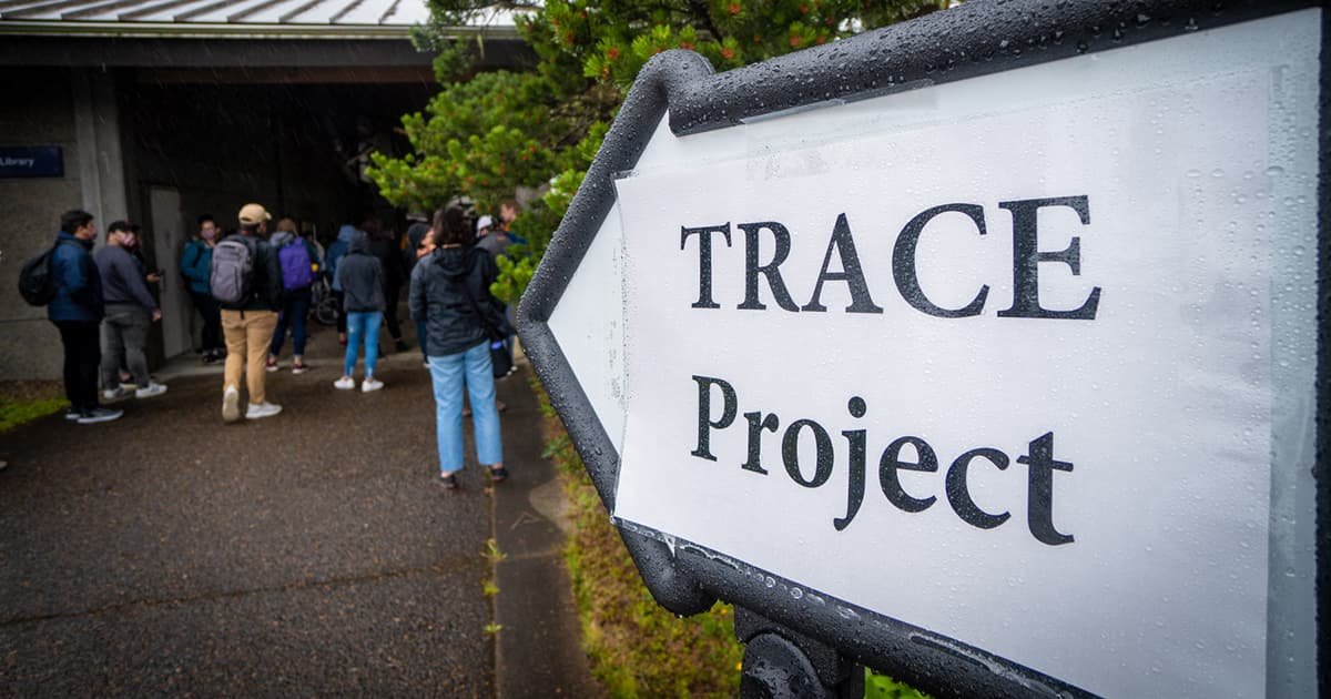 sign for TRACE project
