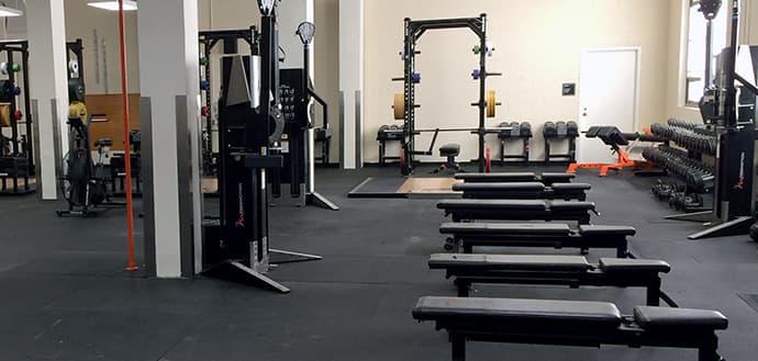 upgraded gym equipment