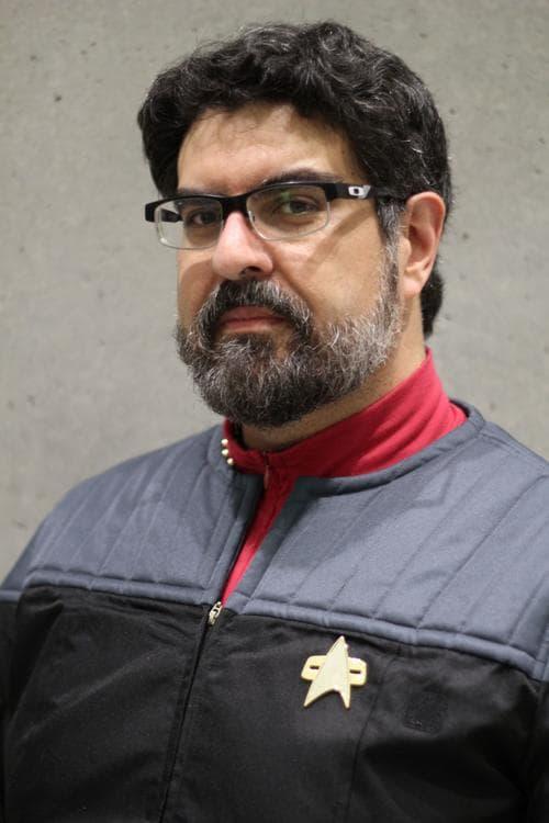 professor Joseph Orosco, wearing his Star Fleet uniform