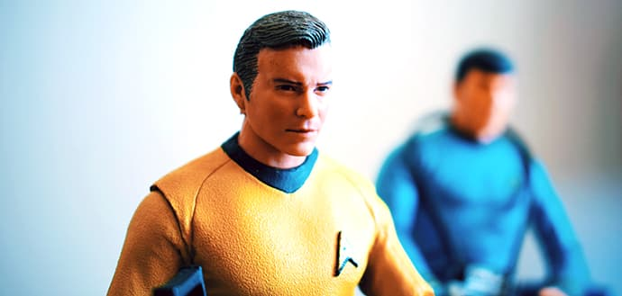 close up of Star Trek action figures