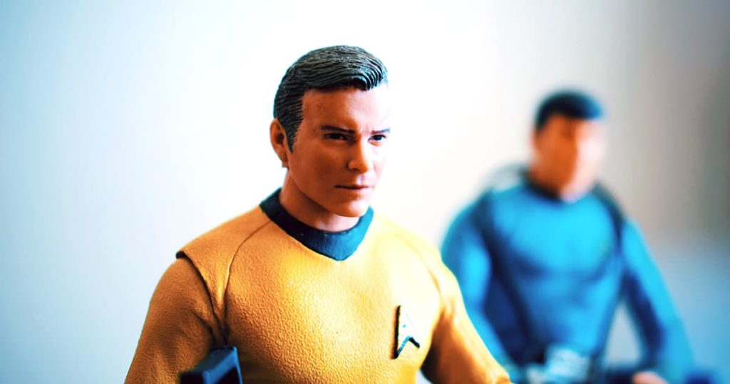 close up of Star Trek action figures
