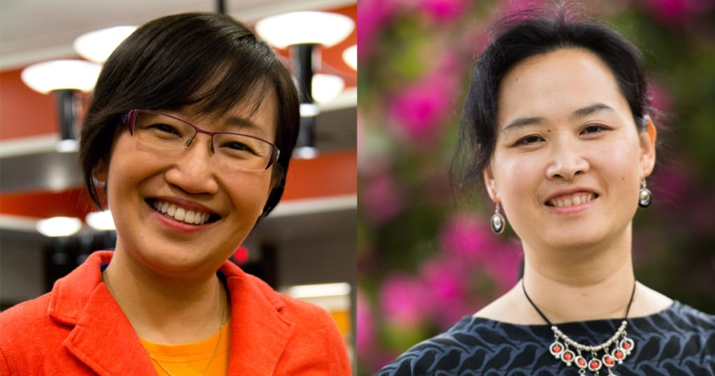 Siew Sun Wong on the left and Emily Ho on the right