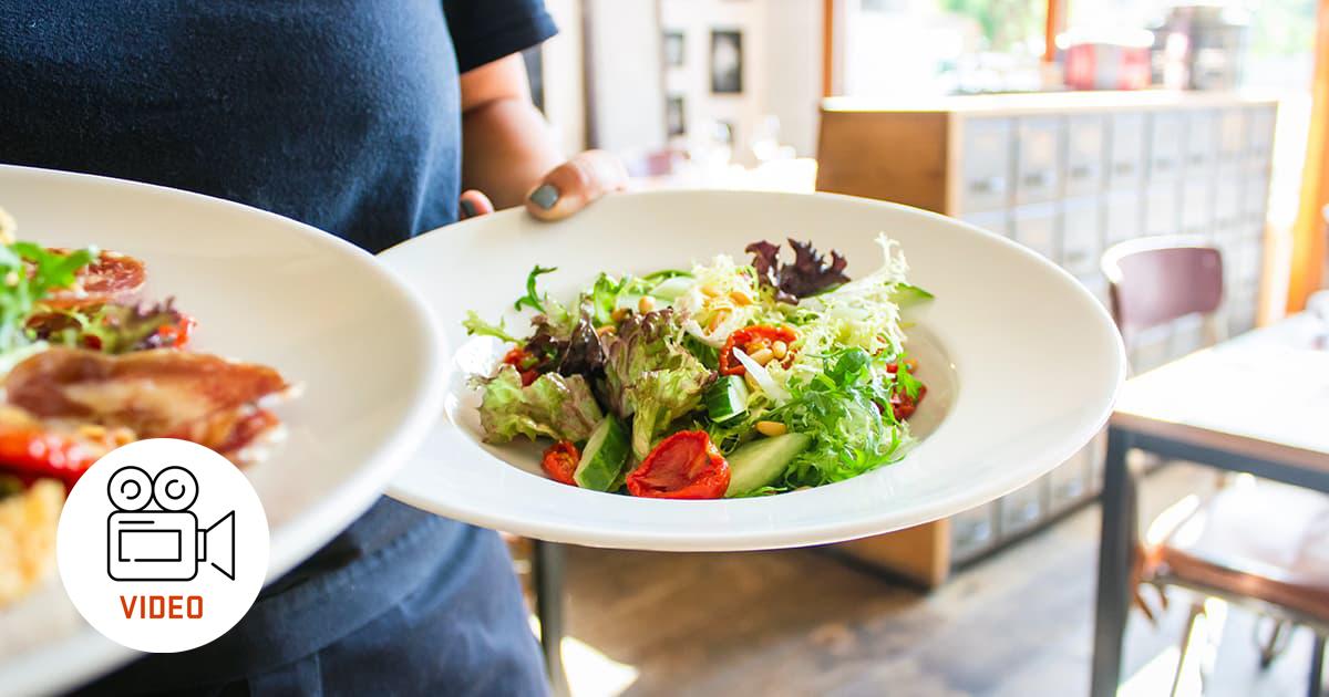 two salad plates