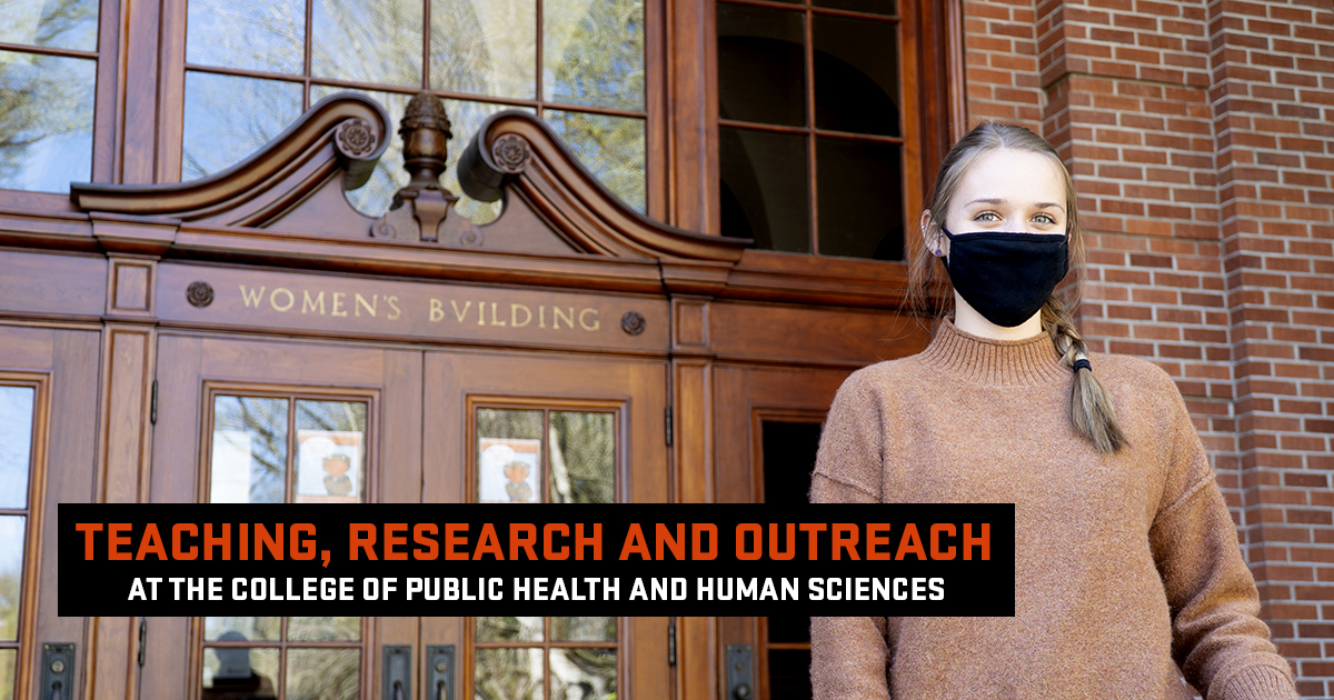 Teaching, research and outreach at the College of Public Health and Human Sciences