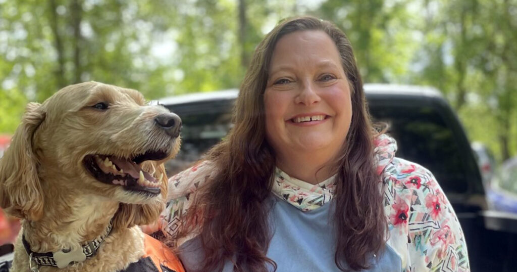 Tamme Young and her service dog, Henry
