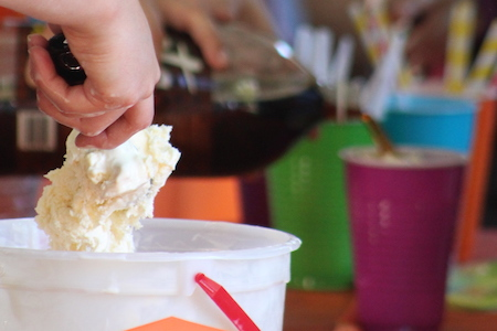 Fall ice cream social welcomes new students