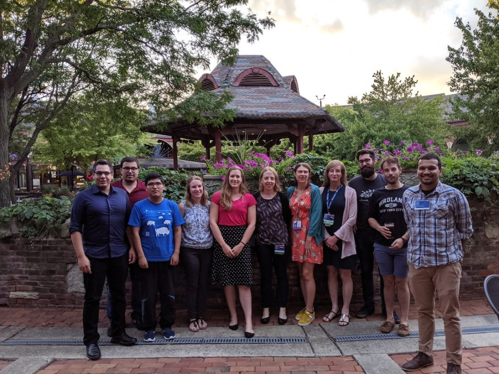 Amit Bashyal (far right) at the Neutrino summer school in Illinois.