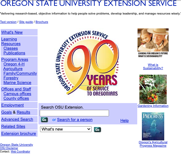 90 years of the OSU Extension Service