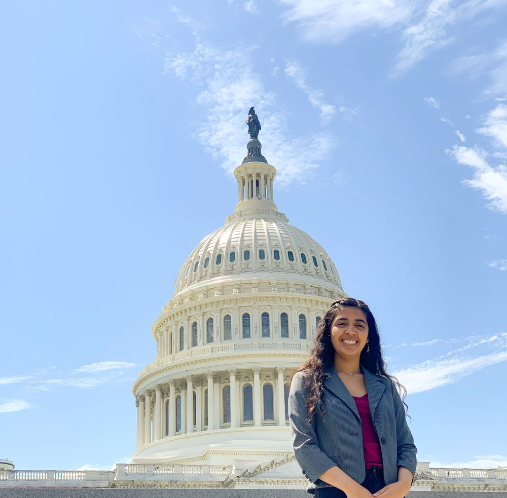 Visiting Capitol Hill, Washington D.C. during a Close Up High School Program in 2019. I hope to write health care policy one day.