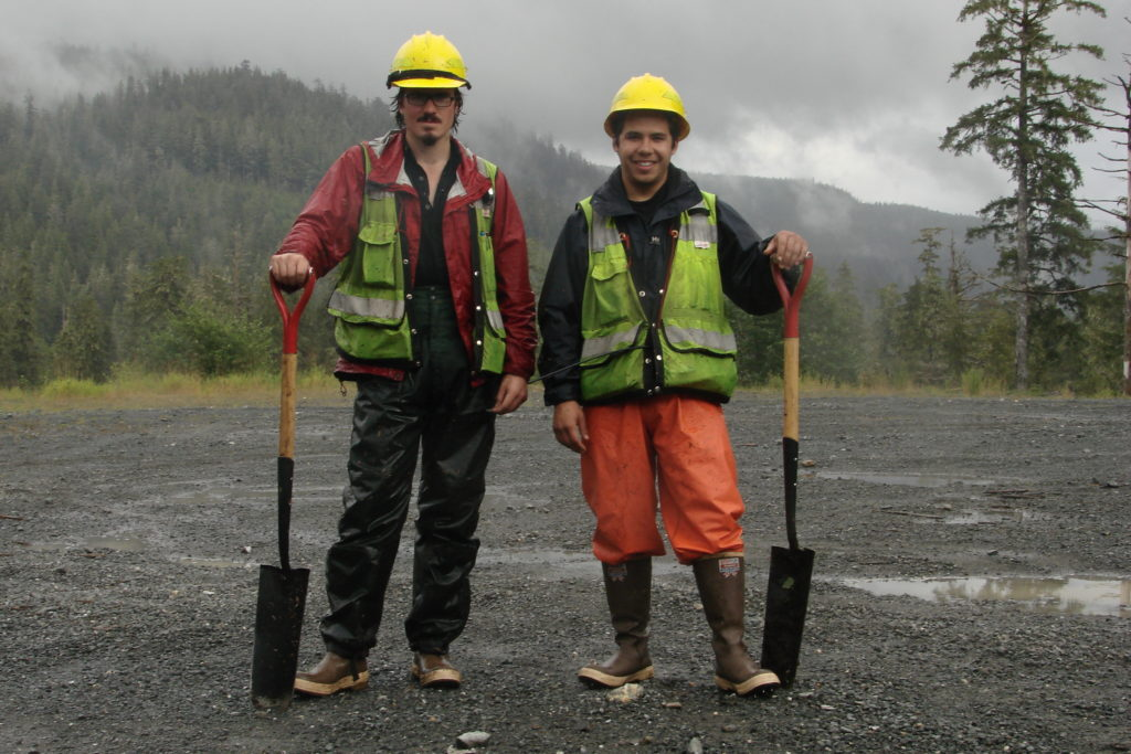 Adrian Gallo (right), part of the inaugural cohort of the Oregon State University Extension Service Interns, interned at the Tongass National Forest in Alaska.