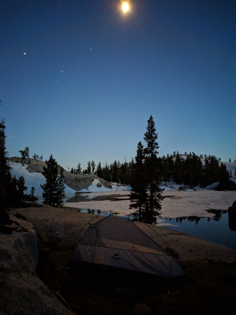 Granite Lake in the Desolation Wilderness remains one of my favorite places in the Sierras. Depending on the snow year, alpine lakes don't always melt out by the Fourth of July.