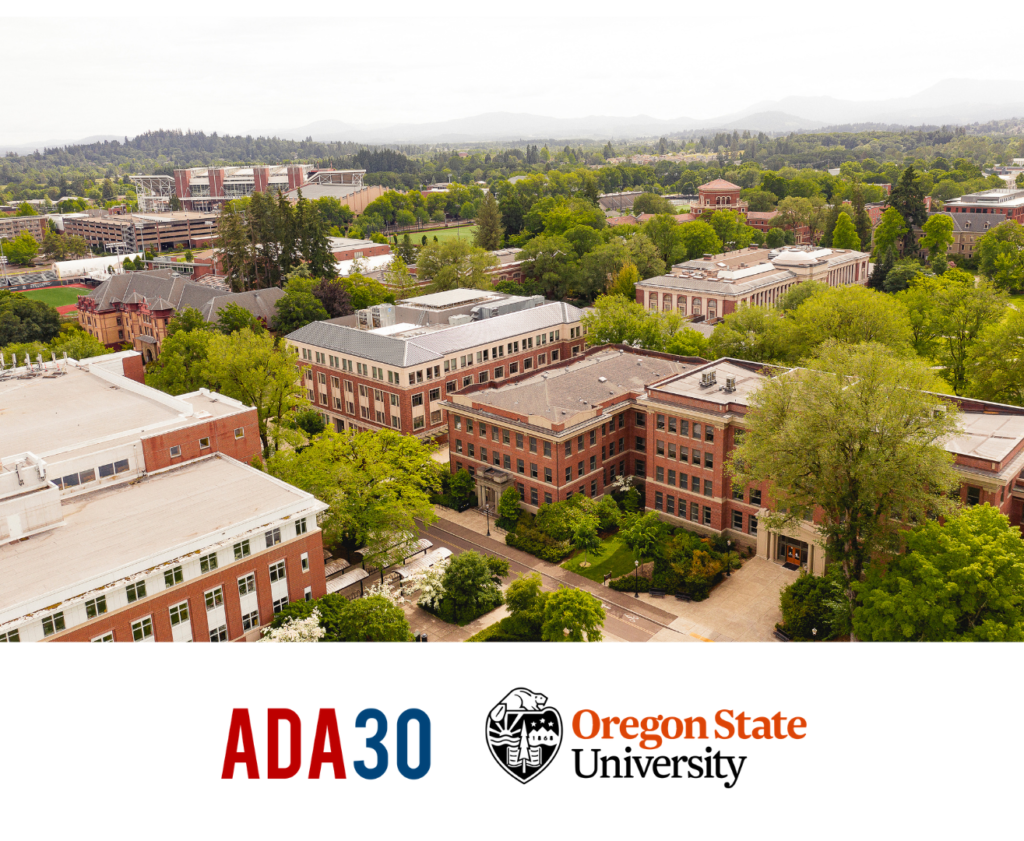 This is a flyer with the OSU ADA30 logo.