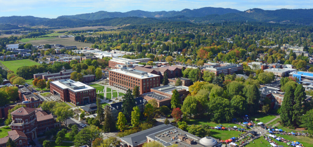 Oregon State University from the air