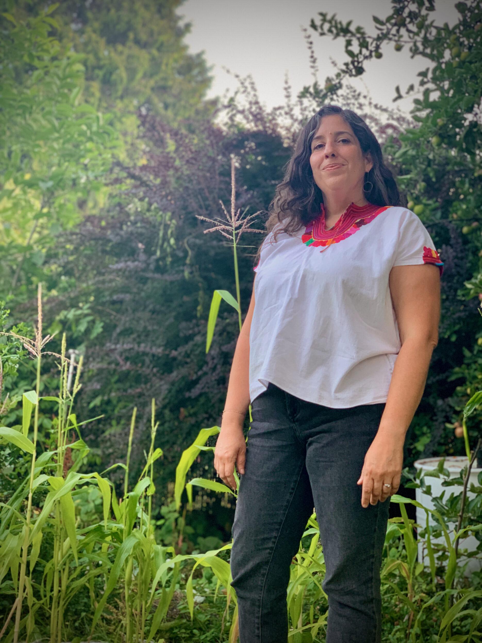 Marissa in garden
