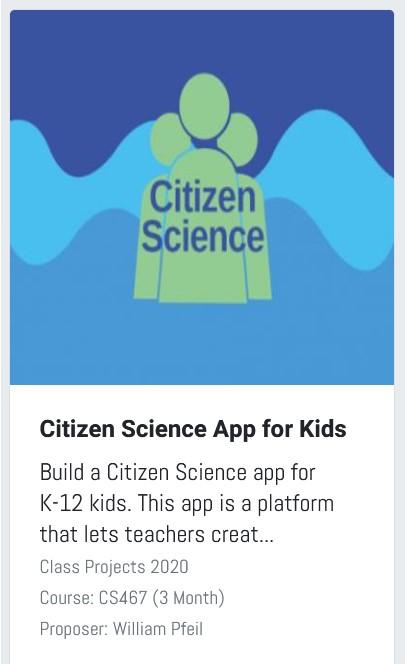 Citizen science project thumbnail